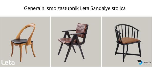 Od sada luksuzne LETA stolice pronađite kod nas